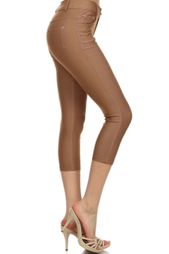 Yelete Khaki Capri Jegging - Alternate List Image