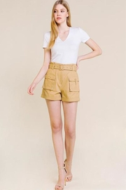 A Peach Khaki Cargo Shorts - Product Mini Image