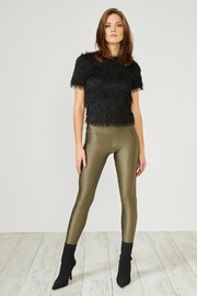 Urban Touch Khaki Glitter Leggings - Product Mini Image