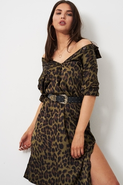 frontrow Khaki Leopard Dress - Alternate List Image