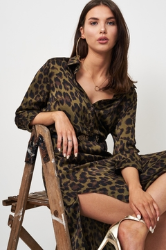 frontrow Khaki Leopard Dress - Product List Image