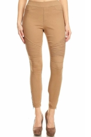 JVINI Khaki Motto Jeggings - Product Mini Image