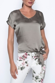 Frank Lyman Khaki Woven Top - Product Mini Image