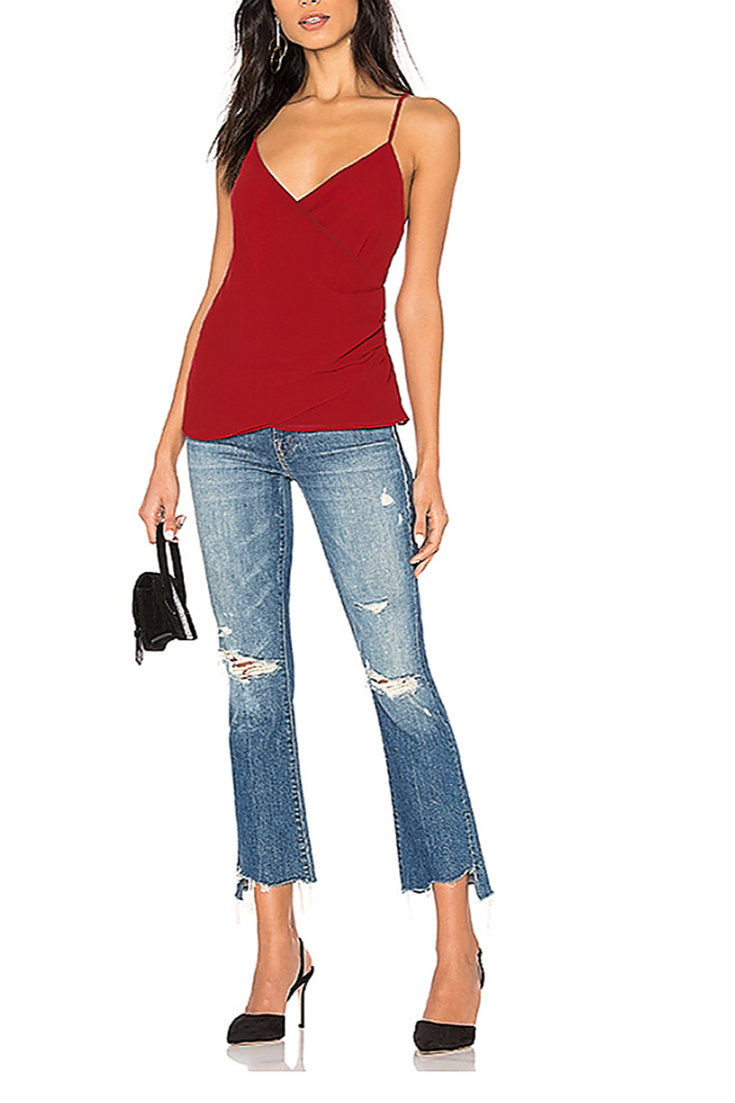 Rebecca Minkoff Khloe Surplice Tank - Front Cropped Image