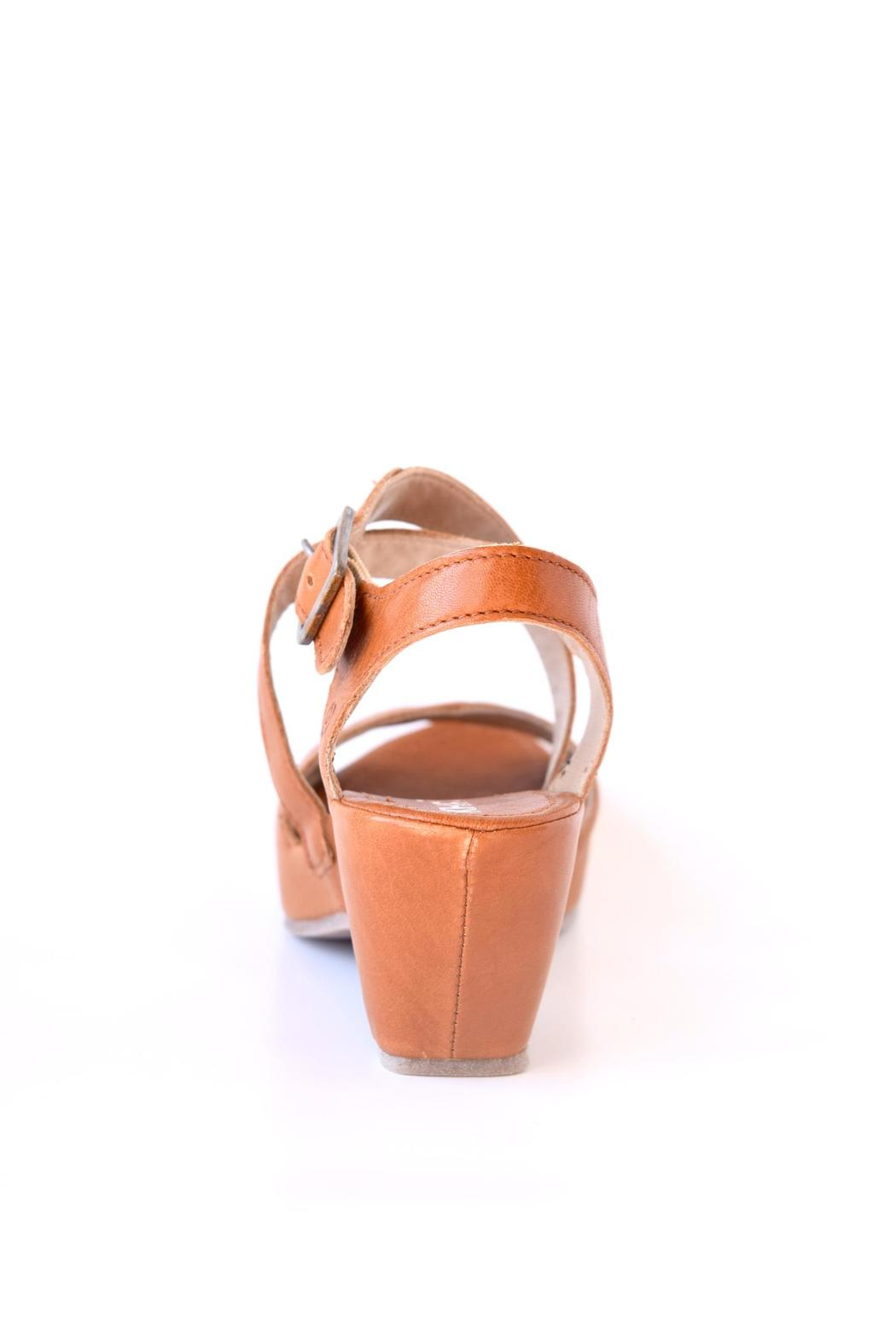 Khrio Cognac Leather Wedge - Front Full Image