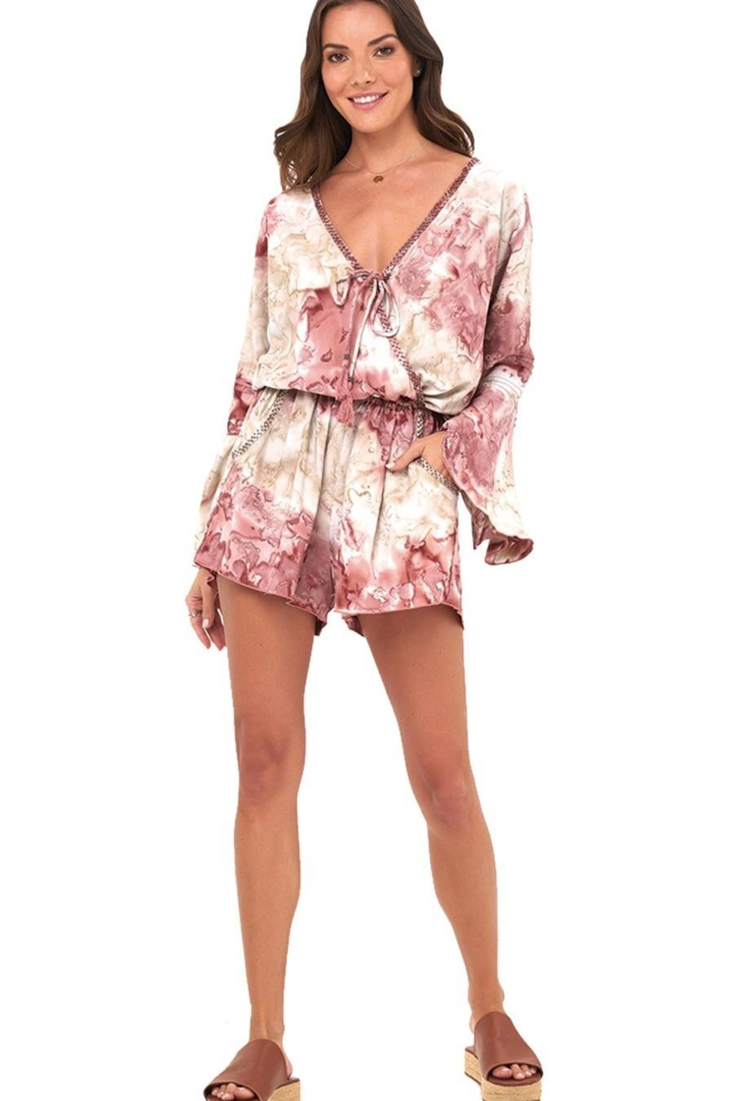 Khush Clothing Kaia Beaded Romper - Side Cropped Image