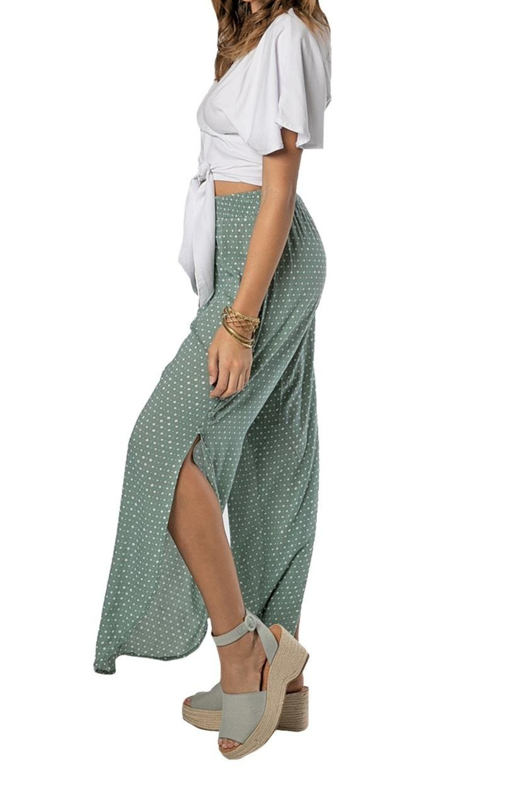Khush Clothing Lavinia Wrap Around Tie Crop Top - Front Full Image