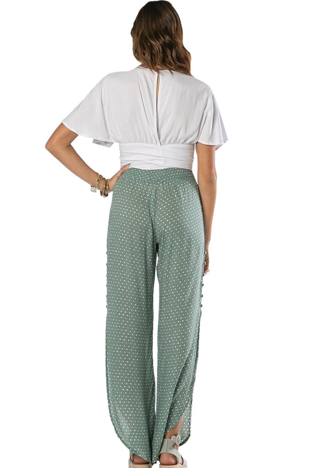 Khush Clothing Lavinia Wrap Around Tie Crop Top - Side Cropped Image