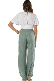 Khush Clothing Lavinia Wrap Around Tie Crop Top - Side cropped