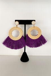 BLACC BOUTIQUE Kiara Fringe Earrings - Front cropped