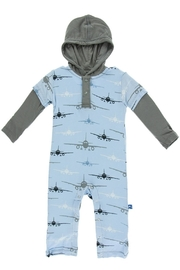 Kickee Pants Airplane Hooded Coverall - Product Mini Image