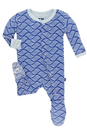 Kickee Pants Blue Print Footie - Product Mini Image