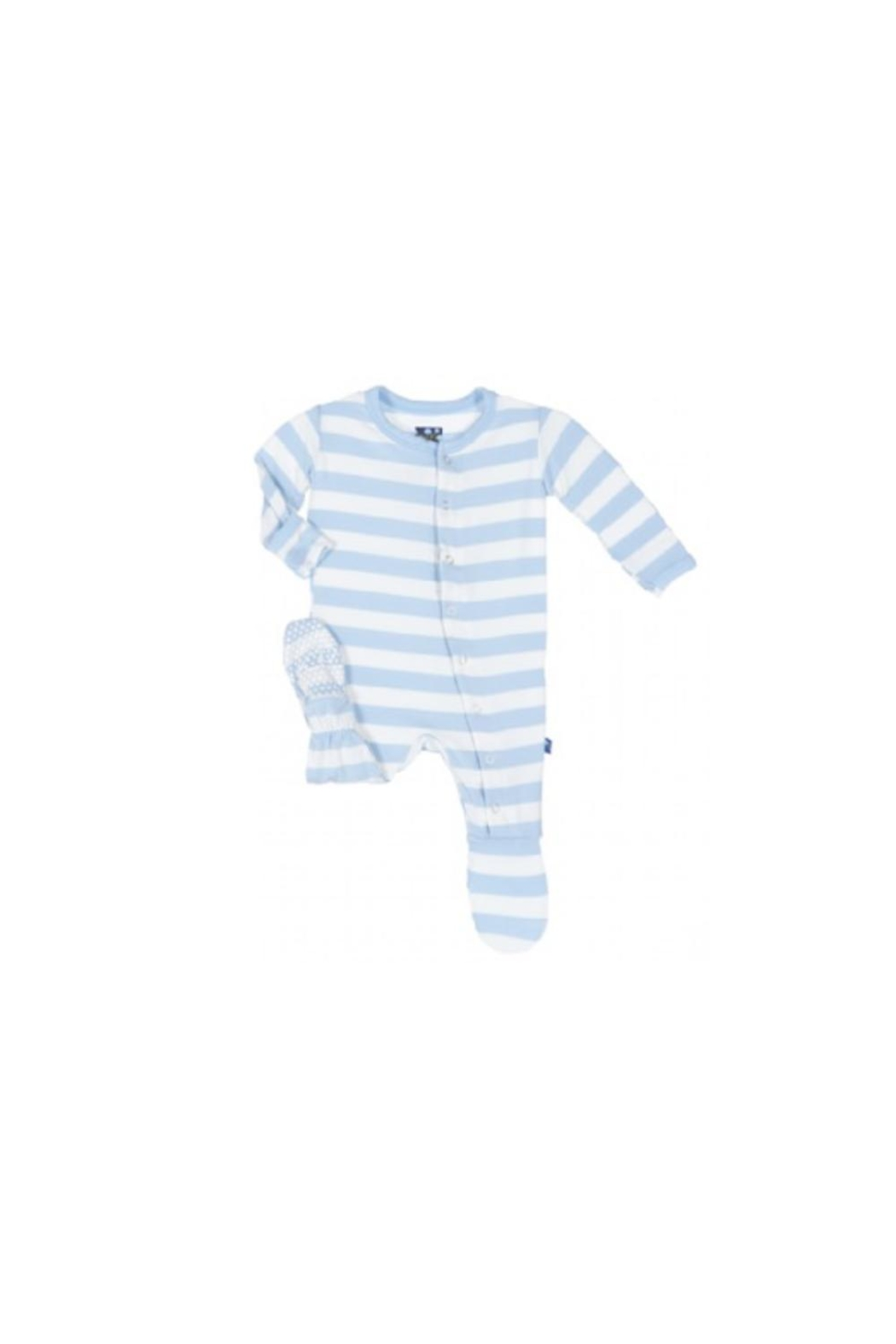 Kickee Pants Blue Striped Footie - Main Image