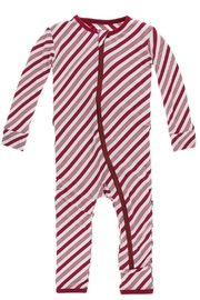 Kickee Pants Candy Cane Coverall - Product Mini Image