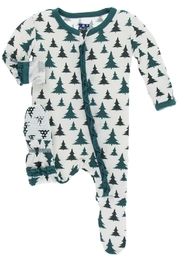 Kickee Pants Christmas Tree Footie - Product Mini Image