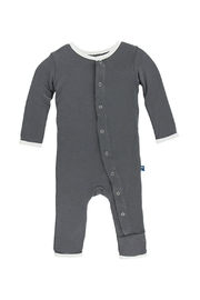 Kickee Pants Coverall Stone Color - Product Mini Image