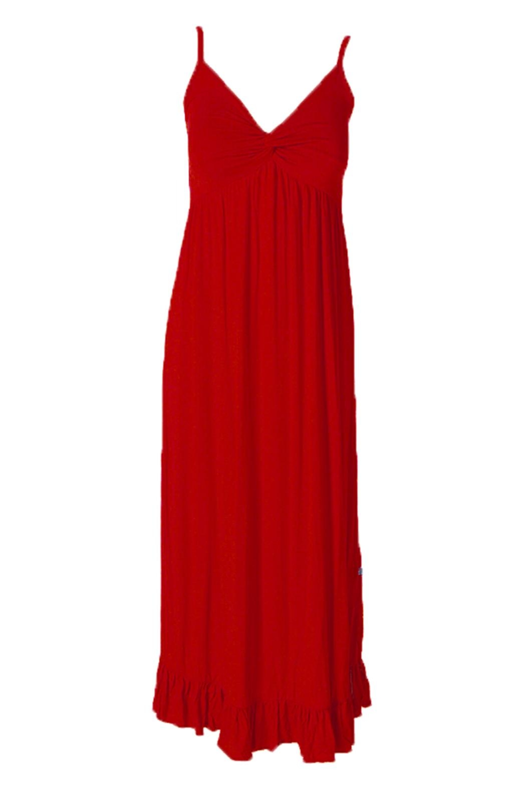Kickee Pants Crimson Ruffle Nightgown - Front Cropped Image
