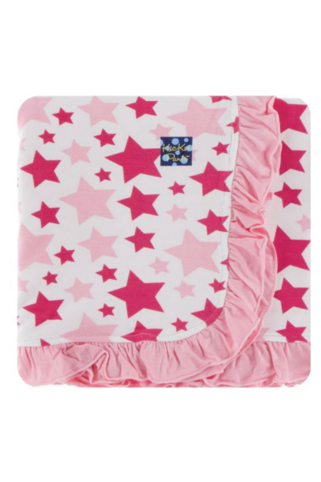 Kickee Pants Flamingo Star Toddler-Blanket - Main Image