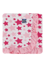 Kickee Pants Flamingo Star Toddler-Blanket - Front cropped