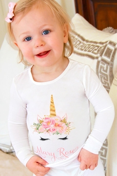 Shoptiques Product: Floral Unicorn Pj-Set