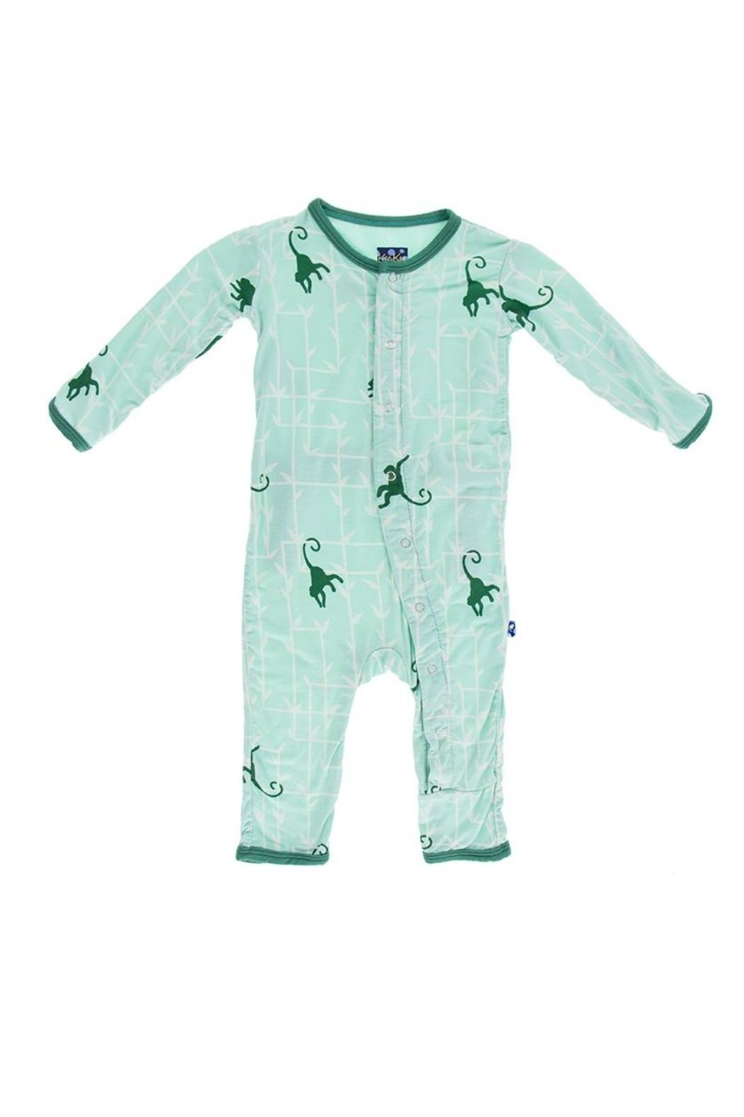 Kickee Pants Forest Monkey Coverall - Main Image