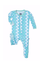 Kickee Pants Fish Pant Footie - Product Mini Image