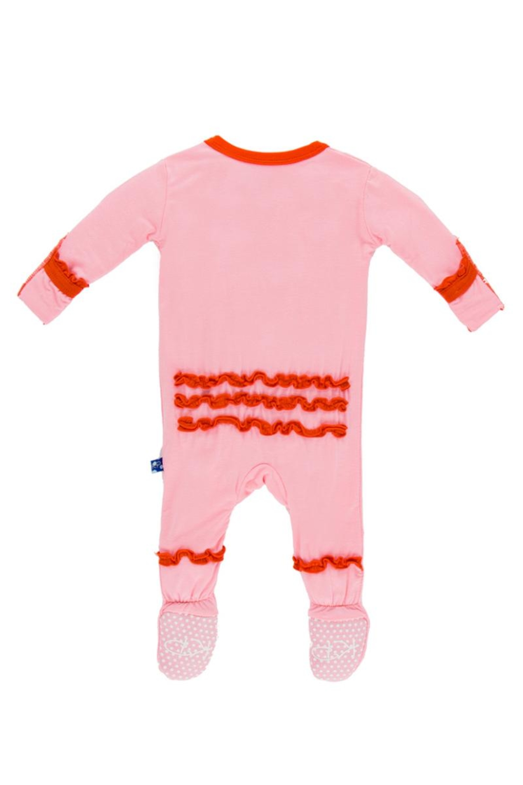 Kickee Pants Lotus & Poppy Ruffle-Footie - Front Full Image