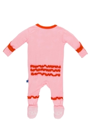 Kickee Pants Lotus & Poppy Ruffle-Footie - Front full body