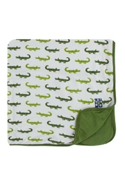 Kickee Pants Natural Crocodile Toddler-Blanket - Front cropped