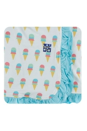 Kickee Pants Natural Ice-Cream Toddler-Blanket - Front cropped