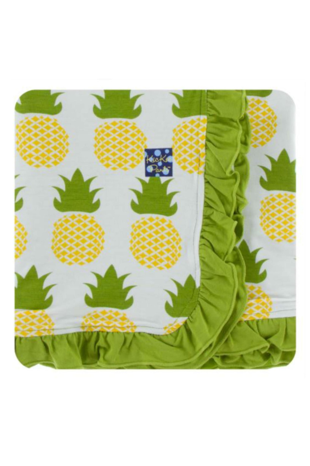 Kickee Pants Natural Pineapple Toddler-Blanket - Front Cropped Image