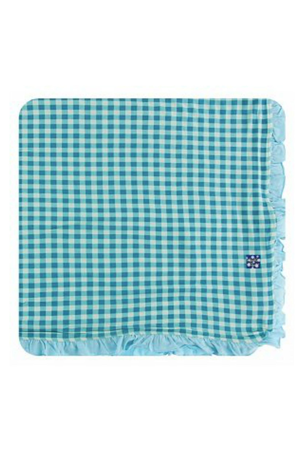 Kickee Pants Pistachio Gingham Toddler-Blanket - Main Image