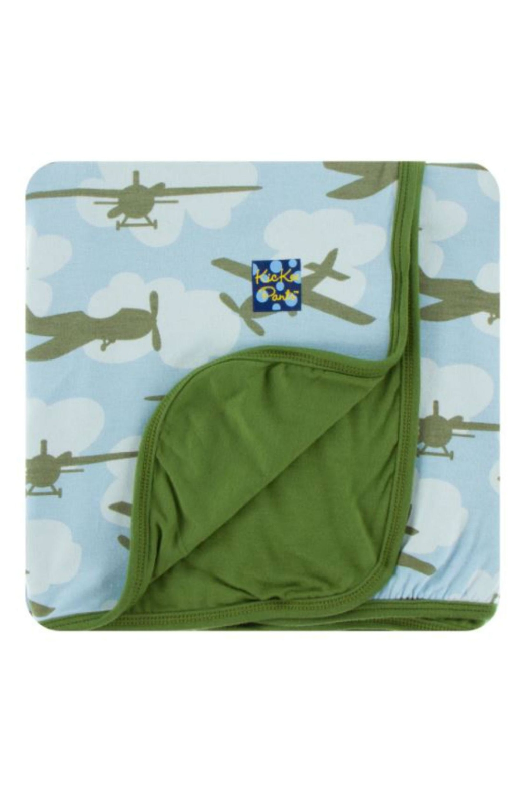 Kickee Pants Pond Airplane Toddler-Blanket - Front Cropped Image