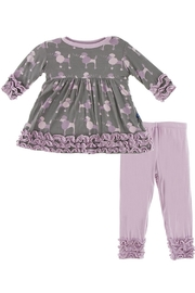 Kickee Pants Purple Poodle Set - Product Mini Image