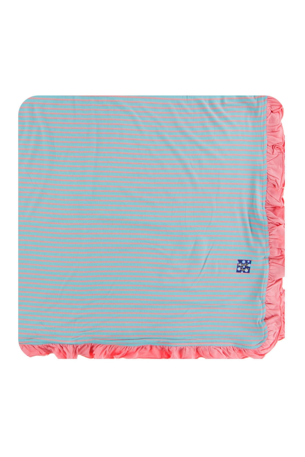 Kickee Pants Strawberry Stripe Toddler-Blanket - Front Cropped Image