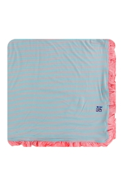 Kickee Pants Strawberry Stripe Toddler-Blanket - Front cropped