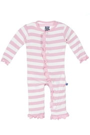 Kickee Pants Stripe Ruffle Coverall - Product Mini Image