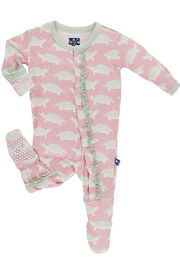 Kickee Pants Turtle Ruffle Footie - Product Mini Image