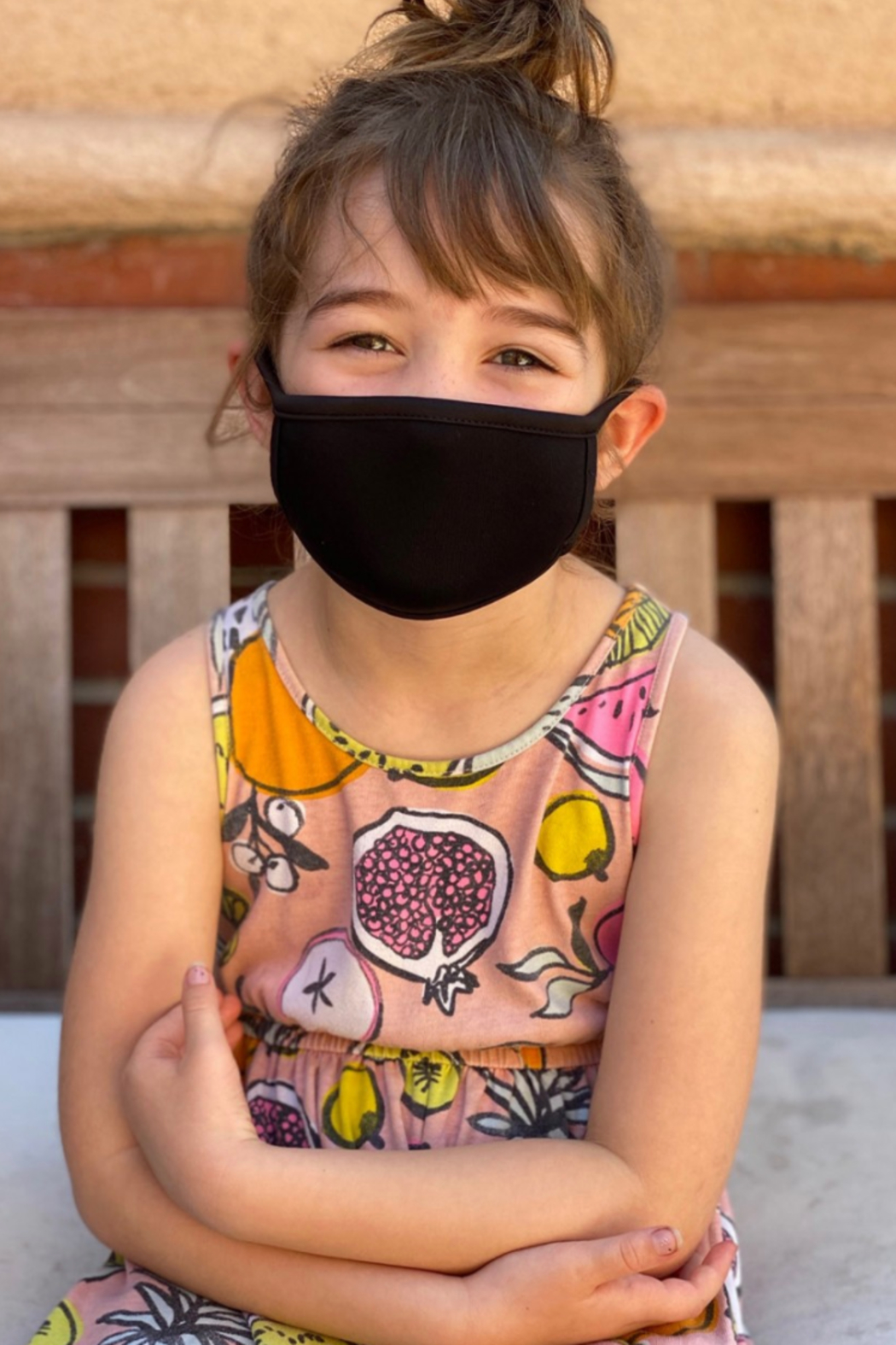 Coin 1804 Kids Black Solid Mask - Main Image