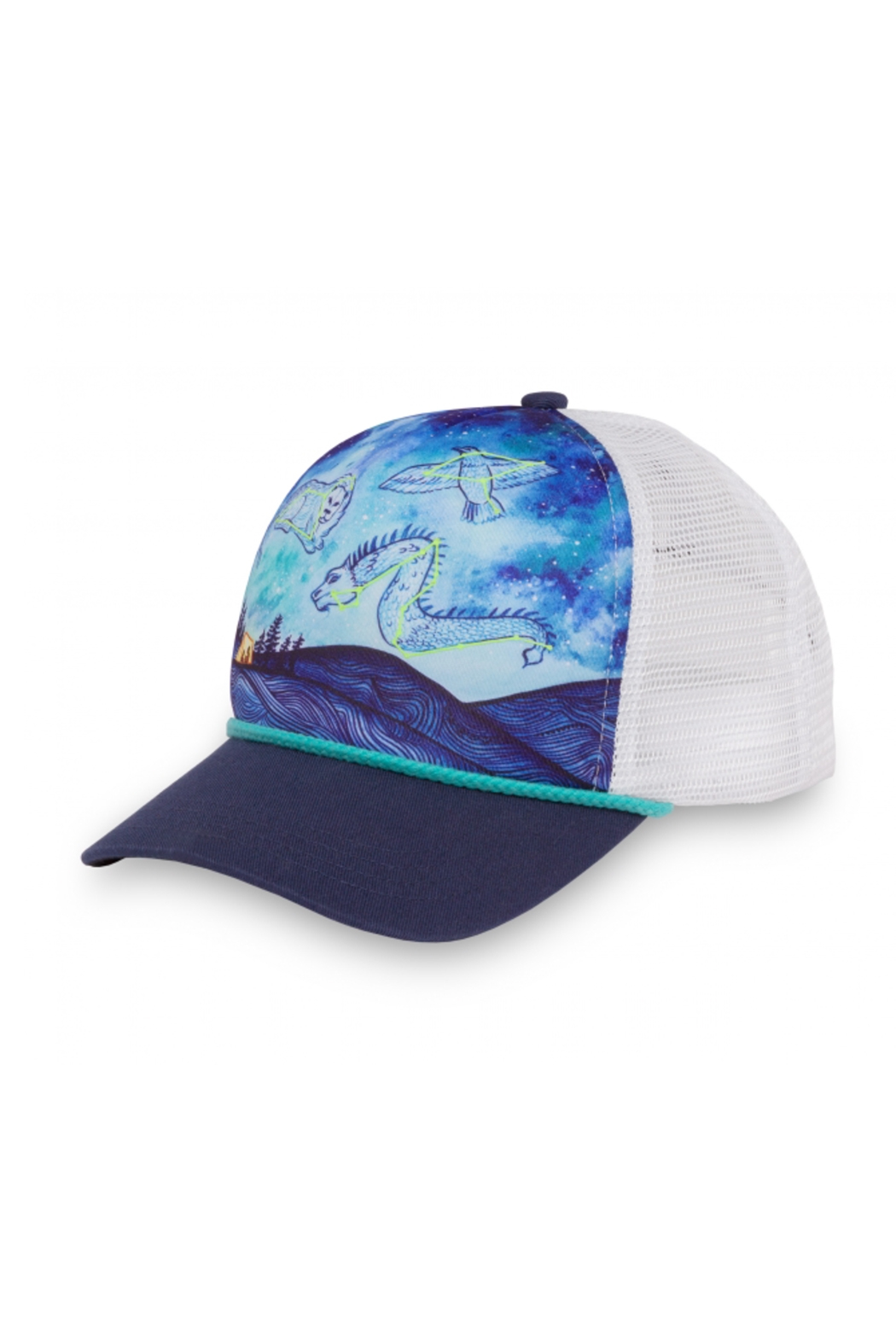 Sunday Afternoons Kids Dreaming Sky Trucker Hat - Side Cropped Image