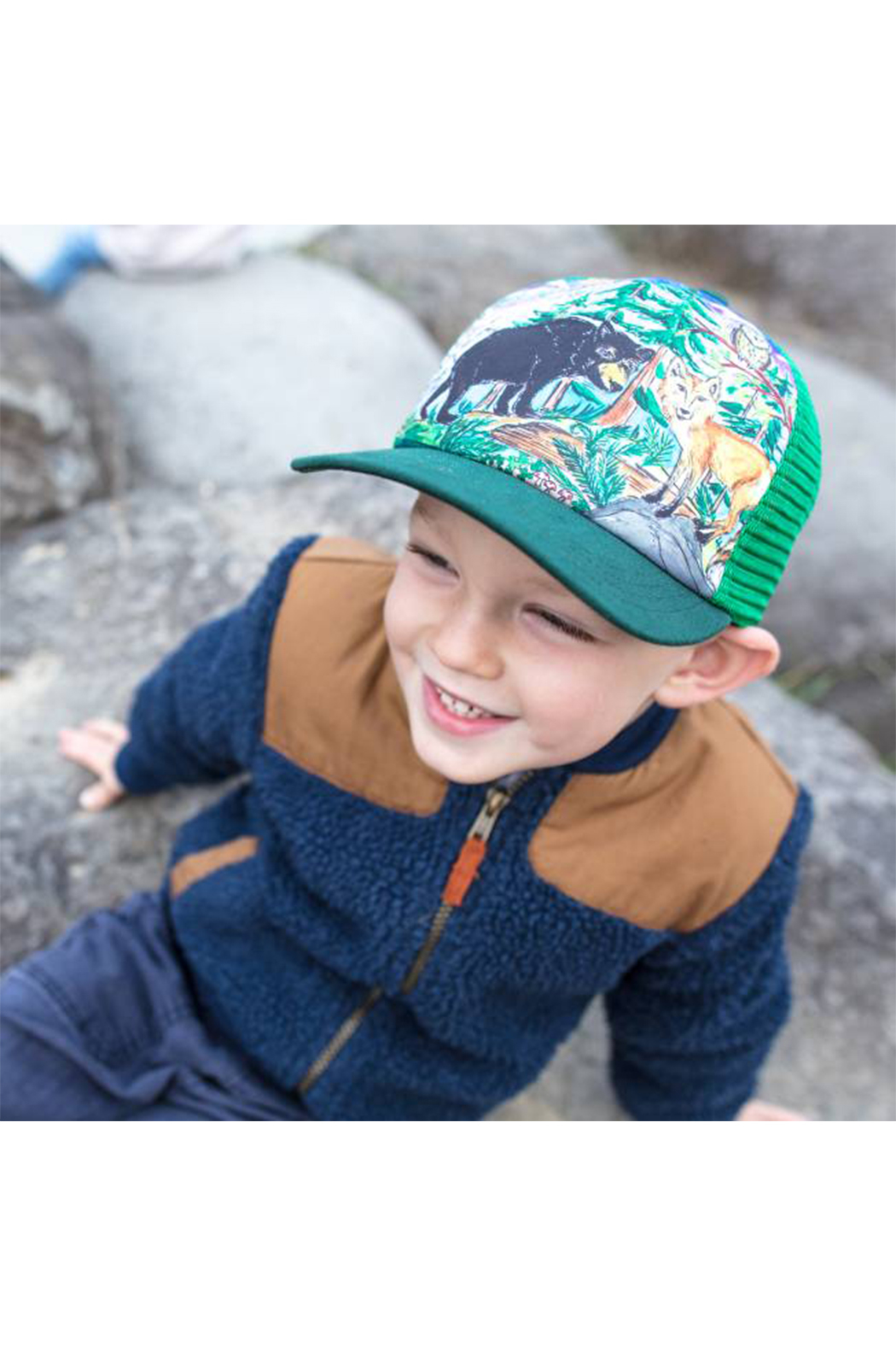 Sunday Afternoons Kids Forest Friends Trucker Hat - Front Full Image