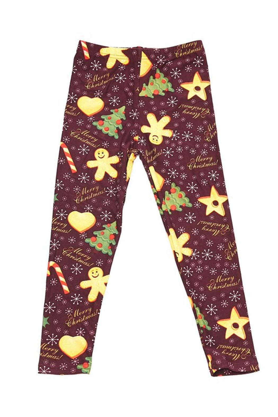 New Mix Kids Gingerbread Legging - Front Cropped Image