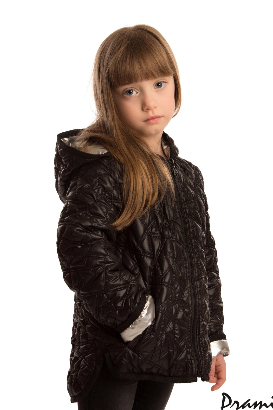 PRAMIE KIDS HOODED QUILTED JACKET | UNISEX | REVERSIBLE - Front Cropped Image
