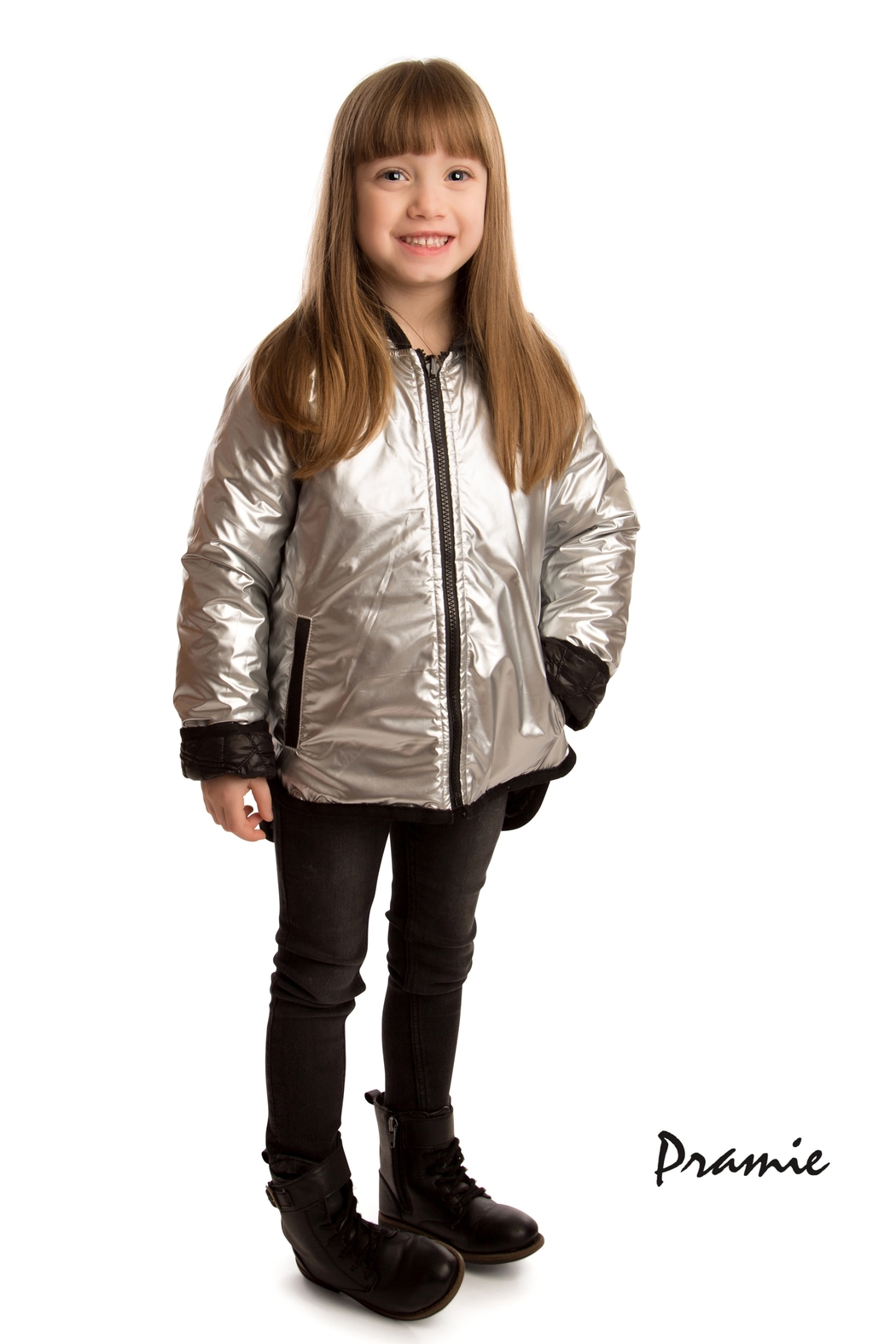 PRAMIE KIDS HOODED QUILTED JACKET | UNISEX | REVERSIBLE - Front Full Image