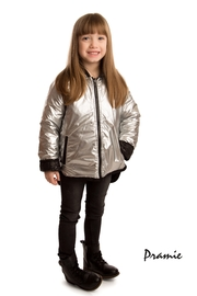 PRAMIE KIDS HOODED QUILTED JACKET | UNISEX | REVERSIBLE - Front full body
