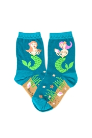 Foot Traffic Kids Mermaid Socks - Front cropped