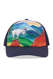 Sunday Afternoons Kids Mountain Goat Trucker Hat - Front cropped