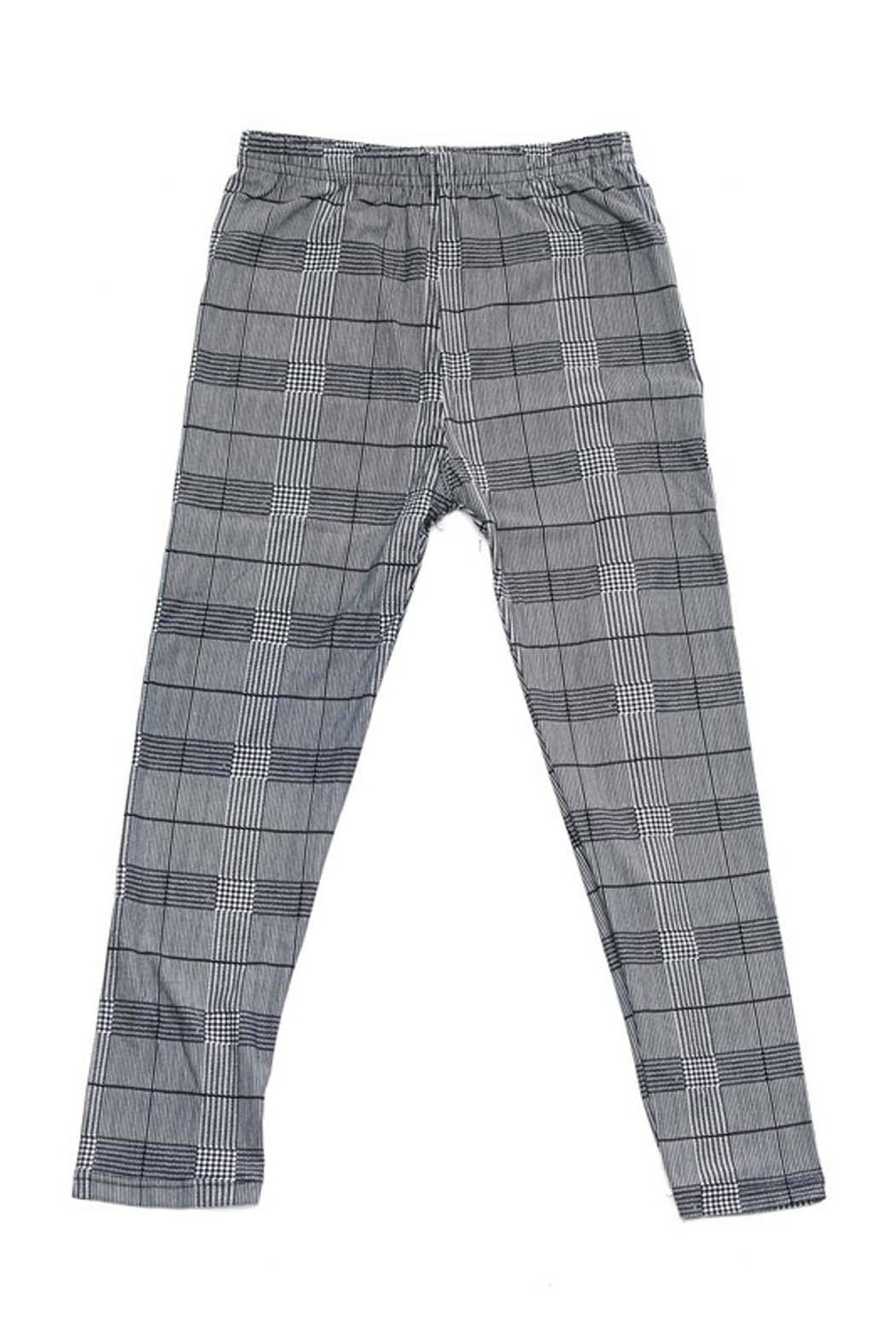 New Mix Kids Plaid Legging - Front Cropped Image