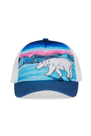 Sunday Afternoons Kids Polar Bear Trucker Hat - Front cropped