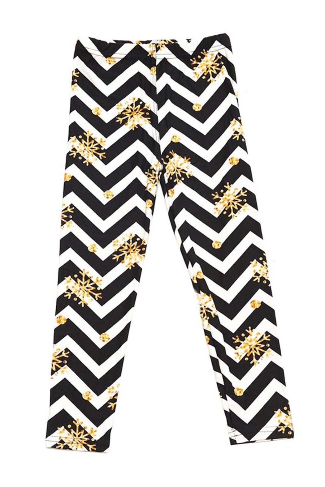 New Mix Kids Print Legging - Front Cropped Image